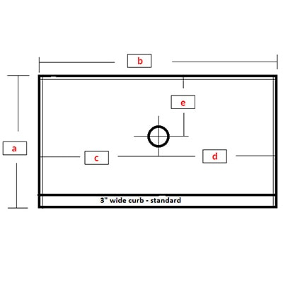 Rectangular Base - Center Drain