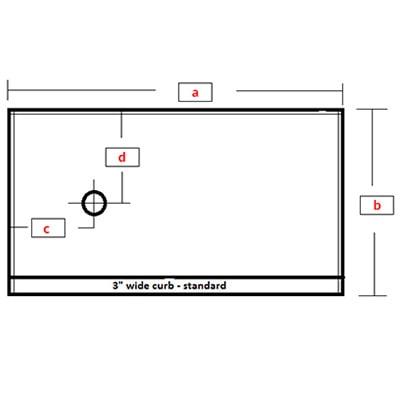 Rectangular Base - Left Drain