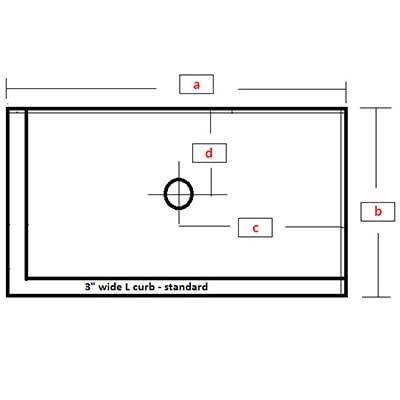 Rectangular Base - Left L Curb Center