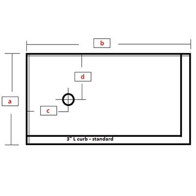 Rectangular Base - L curb right